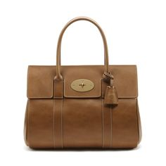 Classic & timeless Mulberry - Bayswater in Oak Natural Leather With Brass