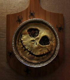 Jack Skellington Pie...so cool for Halloween! Could be sweet or savory!