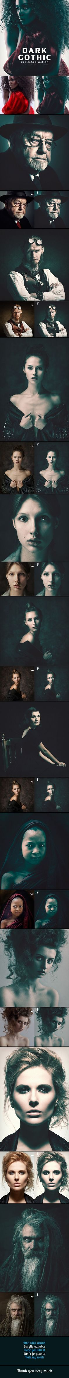 Dark Gothic Photoshop Action #photoeffect Download: graphicriver.net/...