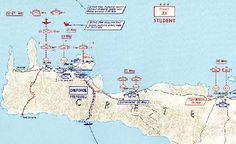 Operational map of the Battle of Crete.