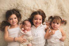 Newborn with three siblings  www.facebook.com/rachelvanovenphotography Rachel Vanoven Photography