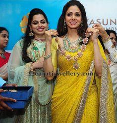 Celebrities and Actresses in Vasundhara Diamond Roof - Jewellery Designs