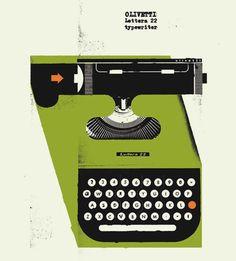 Curt Merlo - 1950's Olivetti Typewriter
