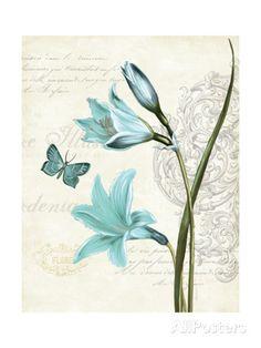 Lila Bleu II Kunstdruck KPertiet