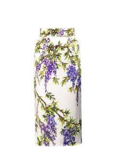 Wisteria-print pencil skirt | Dolce