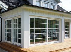 New England Homes, New Homes, Outdoor Living, Outdoor Spaces, Outdoor Decor, Exterior Design, Interior And Exterior, Porch Plans, Glass Room