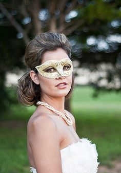 """I always thought that having bridal party wear masks during the ceremony would be kind of cool. Then they'd be """"unmasked"""" during introductions."""