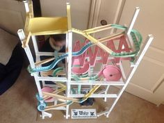 Paper Roller Coasters - Marble Tracks Made From Paper