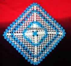 orgu-kare-gelin-lifi Granny Square Crochet Pattern, Crochet Squares, Easy Crochet Patterns, Baby Knitting Patterns, Teapot Cover, Hobby Tools, Yarn Shop, Vintage Patterns, Blanket