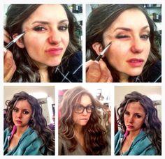 Nina Dobrev on set for Katherine