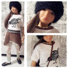 Lammily Doll Outfit /  T Shirt  Beanie Set / by LammilyOutfits