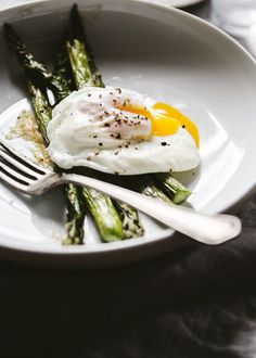 Roasted Asparagus with Miso Butter and a Poached Egg » The Tart Tart
