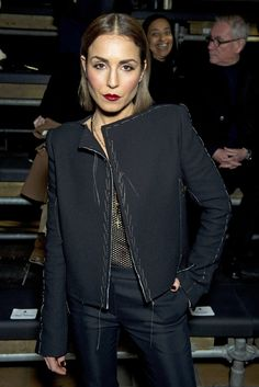 Noomi Rapace Front row at Lanvin [Photo by Stephane Feugere]