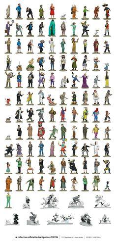 Tintin figures collection