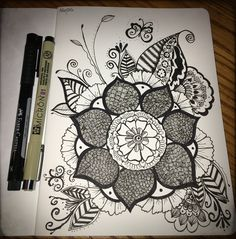 #zentangle #mandala #flower #doodle