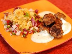 Walnuss-Lammhackbällchen mit arabischer Kartoffelpaste