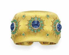 Sapphire, Emerald and Gold Cuff, Buccellati