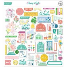 Pinkfresh Studio | Keeping it real collection | Ephemera pack Lets Stay Home, Keep It Real, Just Relax, Flower Images, Graphic 45, Journal Cards, Die Cutting, In My Feelings, Ephemera