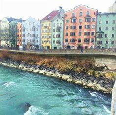 Glacial river, facade, Innsbruck, beautiful places