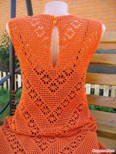 """Платье """"Паучки на сетке"""" (филейное вязание) - Вязание - Страна Мам"""