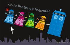 Christmas Daleks...     ¸.•♥•.¸¸¸ツ ¸.•♥•.¸¸¸ツ ¸.•♥•.¸¸¸ツ LOVE this! <3