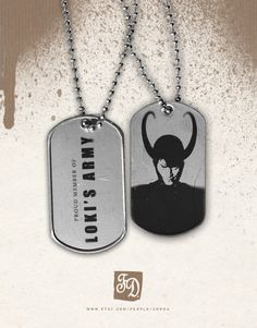 Pendant LOKI's ARMY   Marvel  the Avegers  dog tag by FeerieDoll, $6.00 - I need one! Who wants to buy me one???
