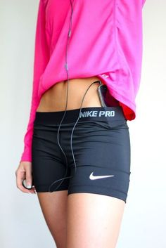 Lol I was stupid and got white Nike pros. And I can't wear them running without something over