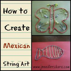 Mexican String Art is a craft that you can create when you are studying Mexico #homeschool
