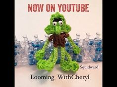 Rainbow Loom SQUIDWARD - Character from SpongeBob - Looming WithCheryl