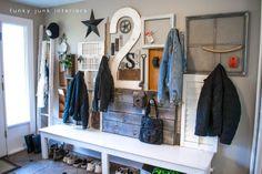 Wall art with junk... for coats | Funky Junk InteriorsFunky Junk Interiors