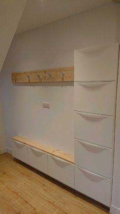 Decor, Shelves, Interior, Entryway Shoe Storage, Hall Decor, Creative Furniture, Ikea, Home Decor, Minimal House Design