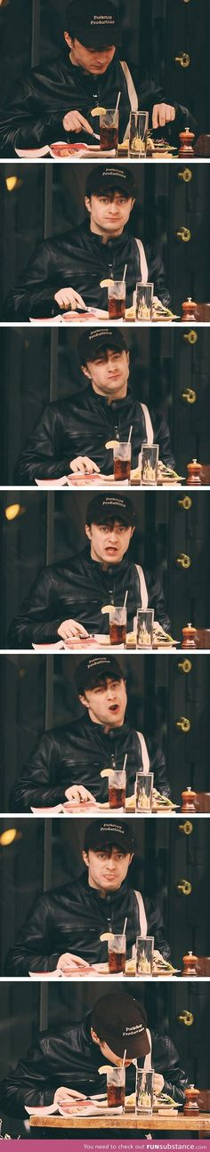 What happens when paparazzi catch Daniel Radcliffe eating