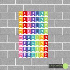 Weekend Banner Rainbow Erin Condren Planner by LimeandMortar