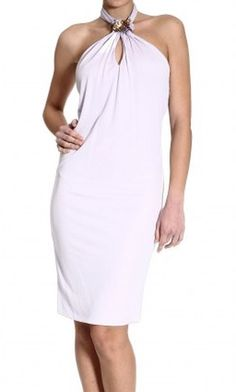 GUCCI Jersey Halter Neck Dress - Lyst
