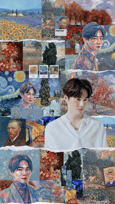 Kpop Exo, Exo Chanyeol, L Wallpaper, Exo Lockscreen, Van Gogh Paintings, Z Cam, Exo Ot12, Kim Junmyeon, Celebrity Dads