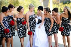 I love these dresses!!! I want black and white dresses with red roses and red shoes!