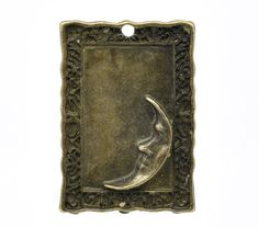 5 Large Moon Stamping Pendant Trays -SS. Starting at $5 on Tophatter.com!