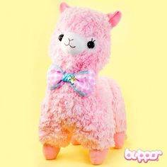 Alpacasso Plush with Bow - Large / Pink