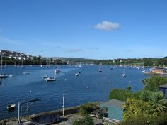 The unbelievably beautiful view across the River Fal from your very own holiday house in  desirable Flushing, Cornwall.