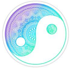 Jing Jang Mandala Sticker
