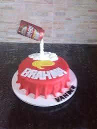 Resultado de imagem para bolos decorados com a cerveja Brahma