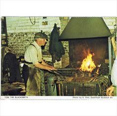 Tom the Blacksmith ~ Cambs & Isle of Ely W. calendar postcard Listing in the Cambridgeshire,England,Topographical,Postcards,Collectables Category on United Kingdom House Clearance, Ely, Blacksmithing, Postcards, United Kingdom, 1970s, Toms, Calendar, England