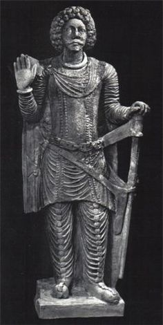 A Prince from Palmyra sculpture | Prince Hatra bronze statue, Iraq, possibly Suren a