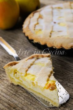 Soft tart with apples and ricotta cheese - Crostata morbida mele e ricotta ricetta facile vickyart arte in cucina Italian Pastries, Italian Desserts, Just Desserts, Italian Recipes, Delicious Desserts, Dessert Recipes, Ricotta, Bolo Grande, Torte Cake