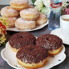 Baked Donut Recipes, Pastry Recipes, Cookie Recipes, Snack Recipes, Banana Dessert Recipes, Desserts, Diy Snacks, Yummy Cakes, Street Food