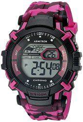 Armitron Sport Unisex 40/8312CPK Digital Display Quartz Pink Watch