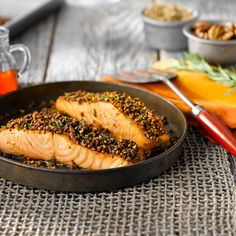 This crust, with a hint of sweetness, is absolutely irresistible atop a fillet of fresh, bright Pacific Salmon.