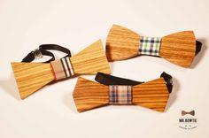 Pajaritas de madera de zebrano | Mr. Bowtie