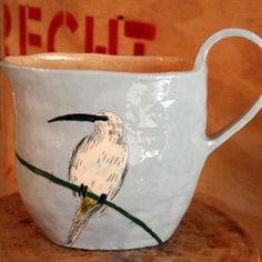 Kingfisher Jug -From Africa with Love Mugs And Jugs, Desktop Storage, Pottery Classes, Kingfisher, Old And New, Kitchen Decor, Artisan, Africa, Tableware