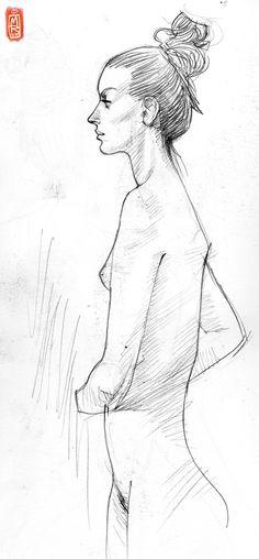 life drawing #XXX_laura (sitting 5) on Behance